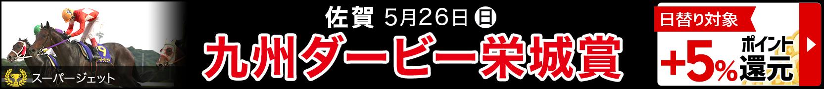 九州ダービー栄城賞日替りで5%ポイント還元