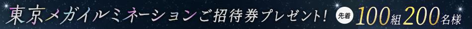 【楽天競馬会員様限定】東京メガイルミネーションにご招待