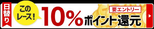 日替りキャンペーンで10%ポイント還元!