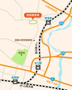 姫路競馬場:地図