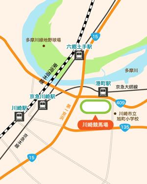川崎競馬場:地図