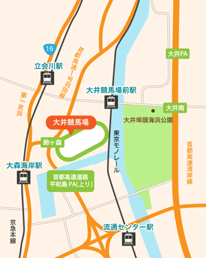大井競馬場:地図