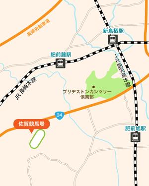 佐賀競馬場:地図